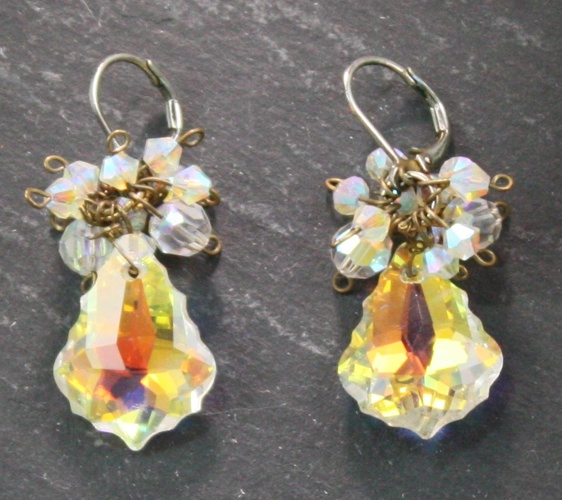 Anna Crystal Aurora Borealis Earrings