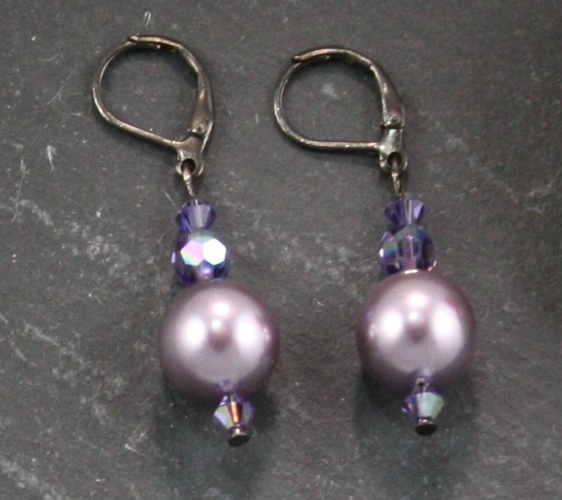 Coco Mauve Light Purple Earrings